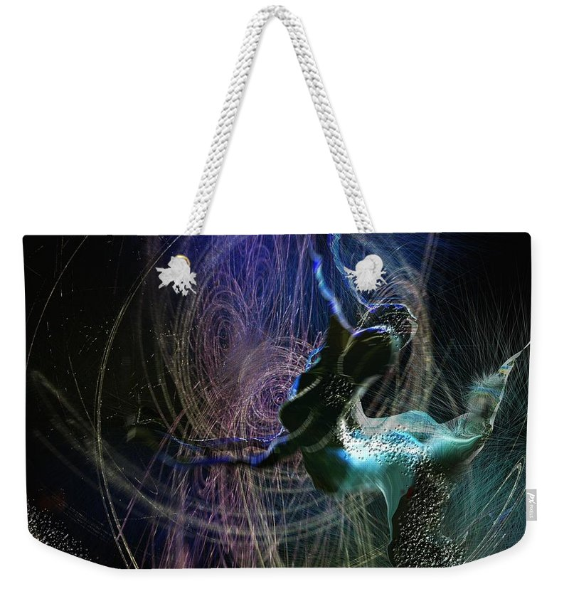 Nature Painting Weekender Tote Bag featuring the painting Dance Of The Universe by Miki De Goodaboom