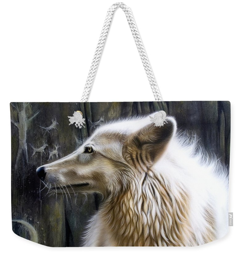 Acrylics Weekender Tote Bag featuring the painting Dance -the Moon by Sandi Baker