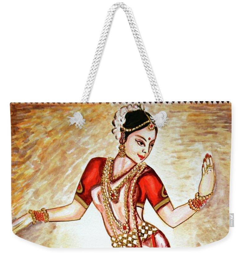 Dance Weekender Tote Bag featuring the painting Dancer 1 by Harsh Malik