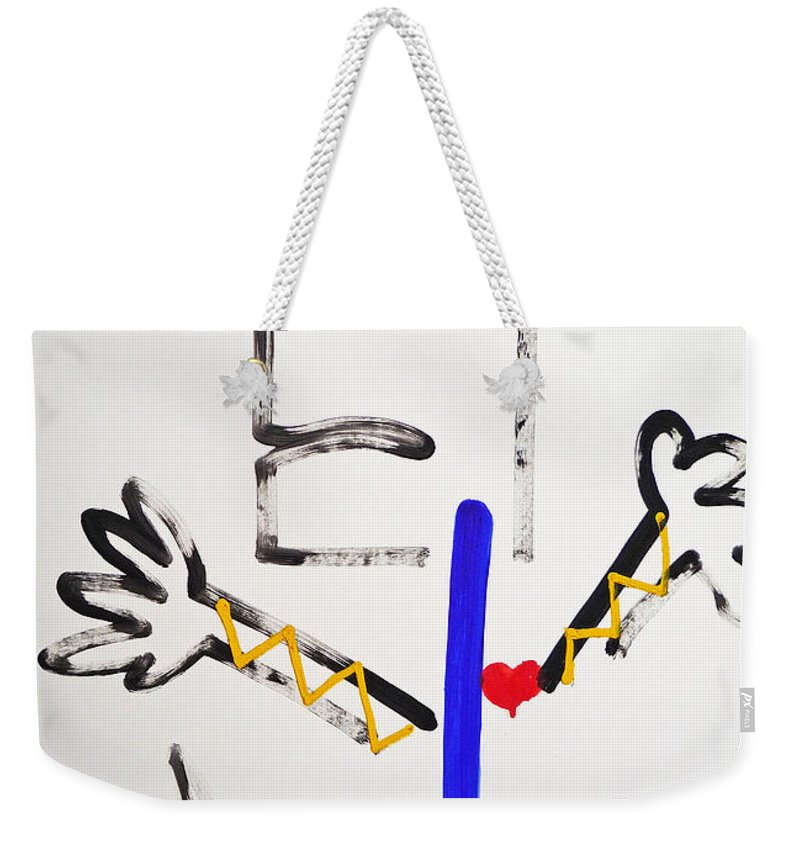 Spirit Dance Weekender Tote Bag featuring the painting Ghost Dance by Charles Stuart