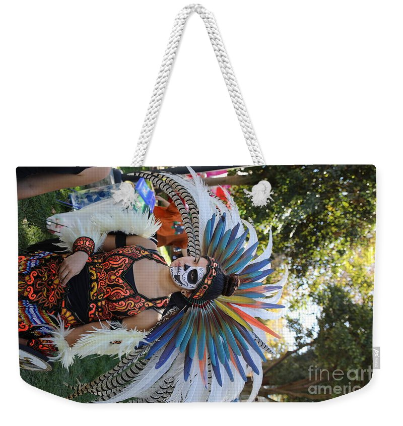 Dia De Los Muertos Weekender Tote Bag featuring the photograph Dancer Day Of The Dead II by Chuck Kuhn