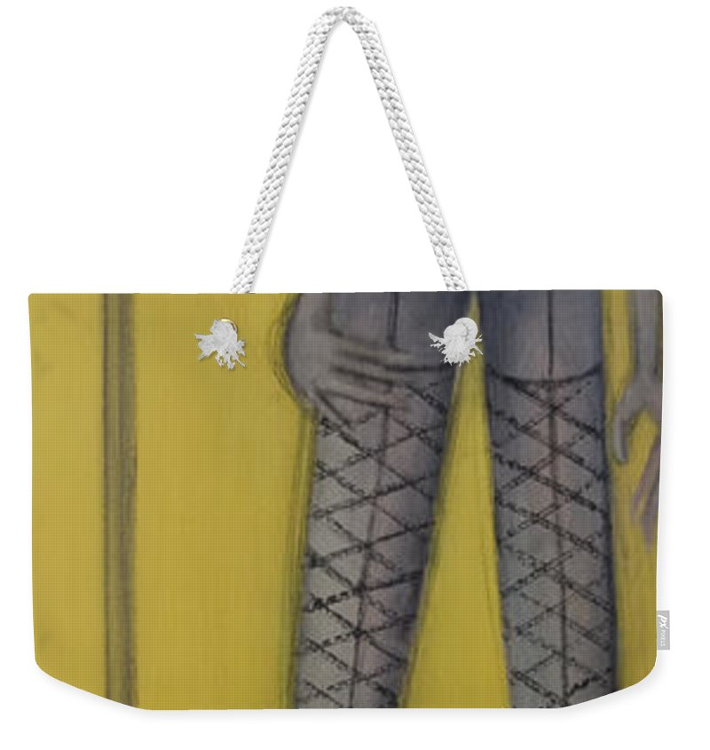 Dancer Weekender Tote Bag featuring the painting Dancer by Kelly Jade King