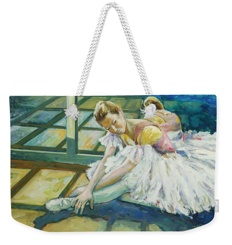 Glass Weekender Tote Bag featuring the painting Dancer by Rick Nederlof