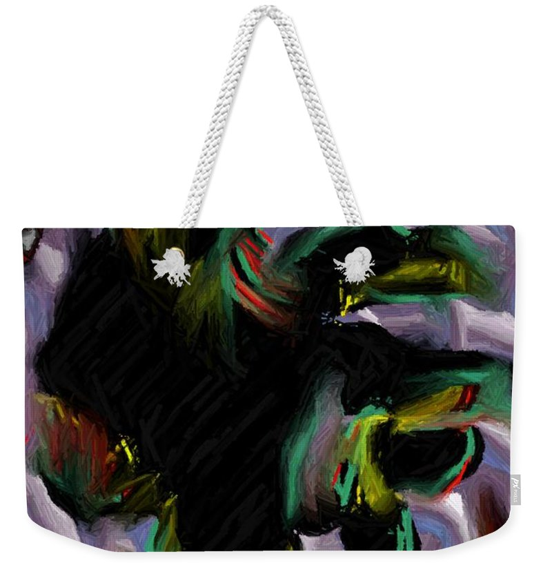 Digital Art Weekender Tote Bag featuring the digital art Dancer by Ron Bissett