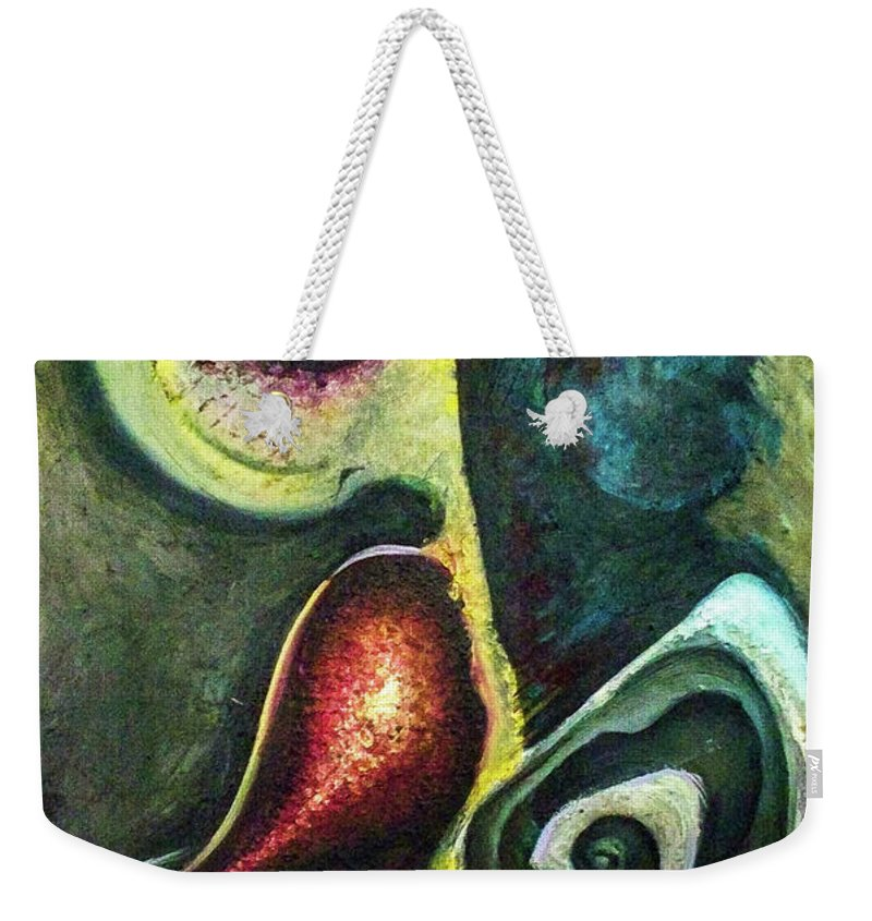 Abstract Weekender Tote Bag featuring the painting Dancers by Heather Joi