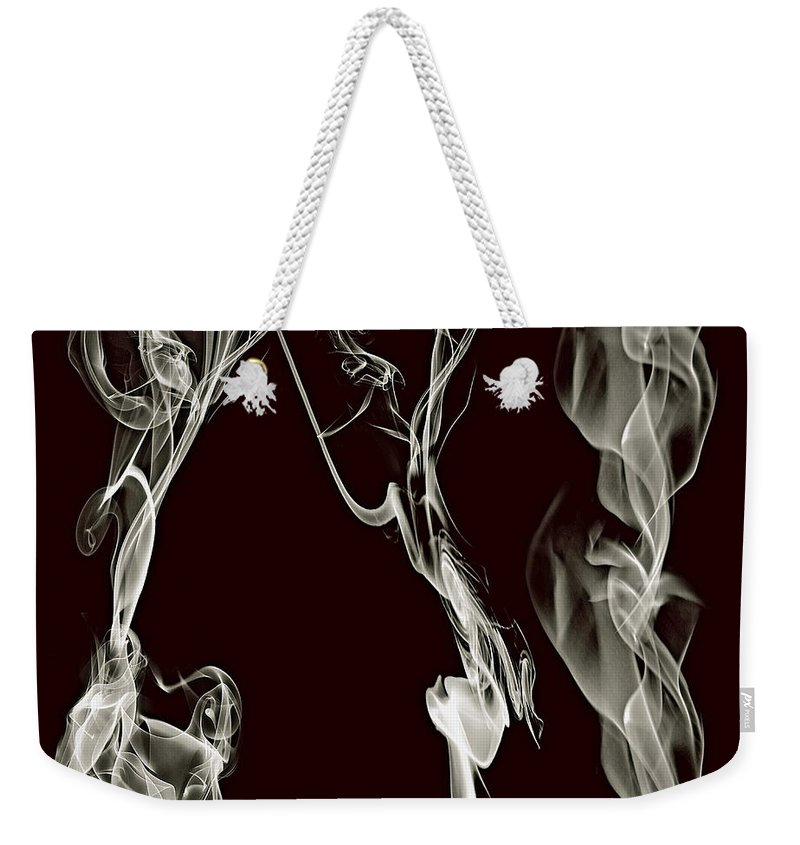 Clay Weekender Tote Bag featuring the digital art Dancing Apparitions by Clayton Bruster