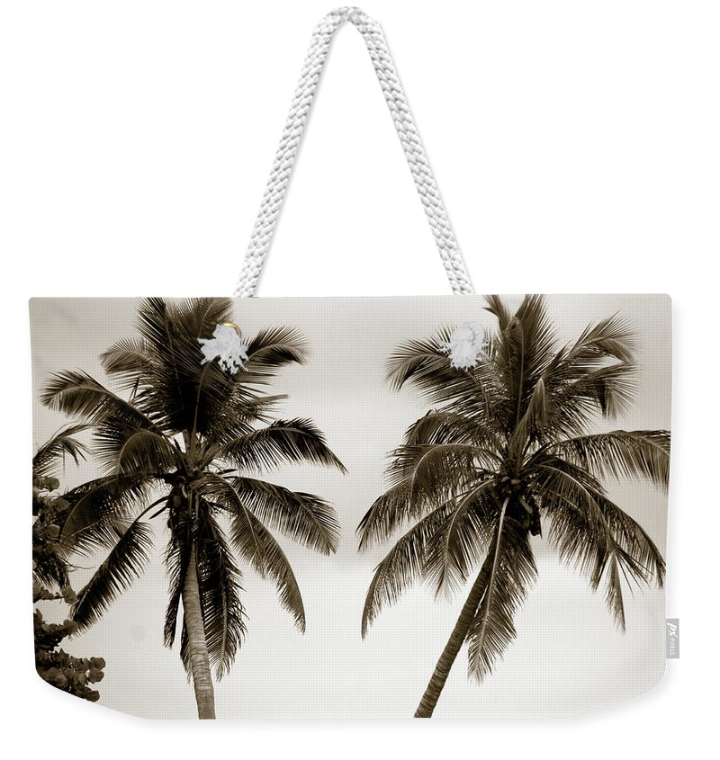 Palms Weekender Tote Bag featuring the photograph Dancing Palms by Susanne Van Hulst
