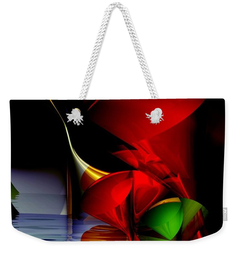 3d Weekender Tote Bag featuring the digital art Dancing Polynomials by Issabild -