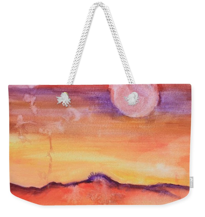 Princess Weekender Tote Bag featuring the painting Dancing Princess by Amber and Norah Ruehe