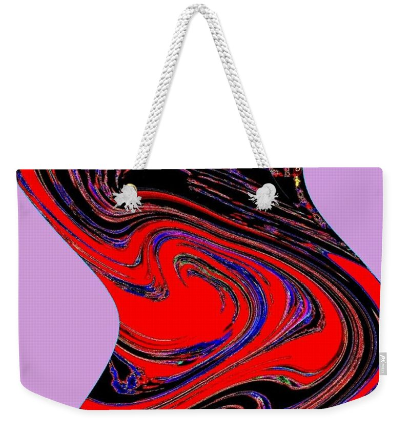Abstract Weekender Tote Bag featuring the digital art Dancing Queen Roline by Will Borden