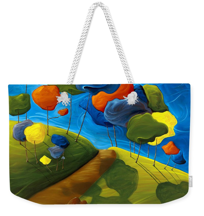 Landscape Weekender Tote Bag featuring the painting Dancing Shadows by Richard Hoedl