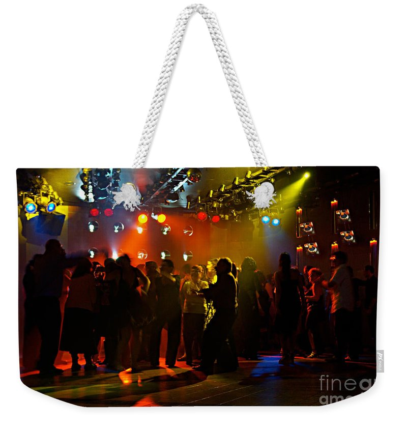 Dance Weekender Tote Bag featuring the photograph Dancing To The Music by Zal Latzkovich