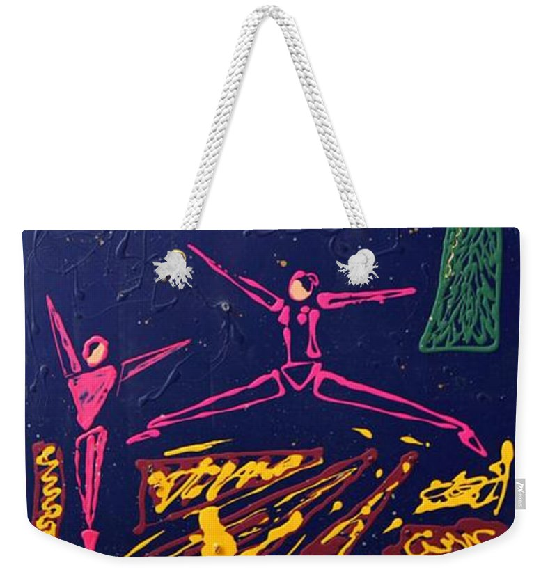 Dancers Weekender Tote Bag featuring the mixed media Dancing Under The Starry Skies by J R Seymour