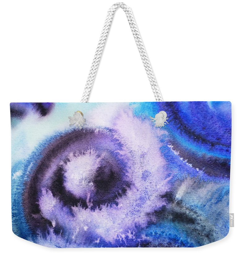 Abstract Weekender Tote Bag featuring the painting Dancing Water Iv by Irina Sztukowski