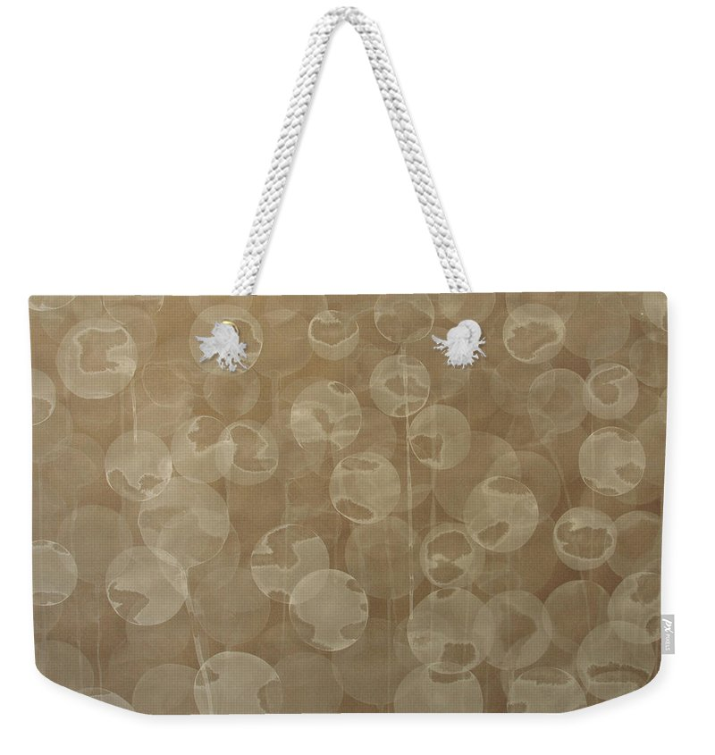 Abstract Weekender Tote Bag featuring the painting Dandelion by Jitka Anlaufova