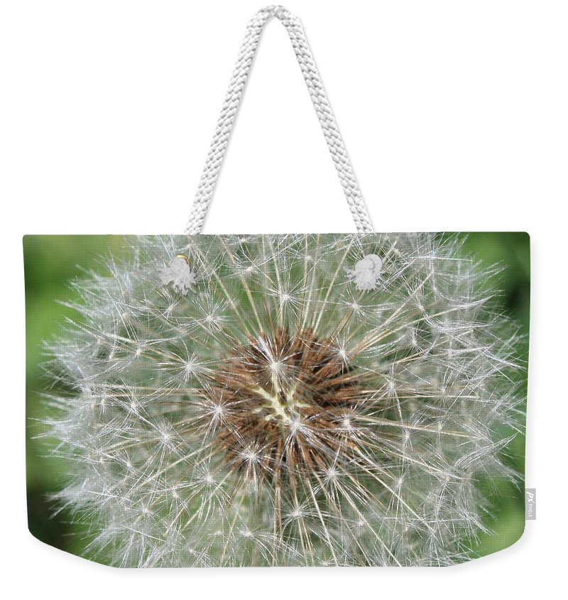 Dandelion Weekender Tote Bag featuring the photograph Dandelion Macro by Carol Groenen