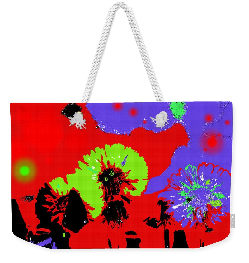 Abstract Weekender Tote Bag featuring the photograph Dandelion Seeds by Jeff Swan