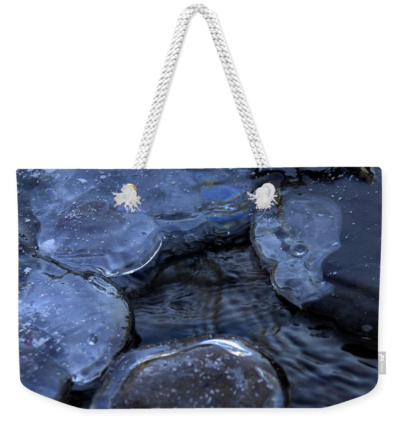 Ice Weekender Tote Bag featuring the photograph Danger Zone by Donna Blackhall