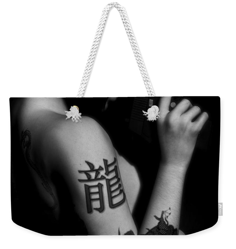 Sexy Weekender Tote Bag featuring the digital art Dangerous Beauty by Alexander Butler