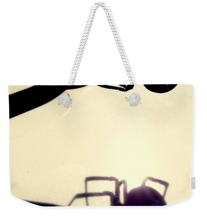 Black Widow Weekender Tote Bag featuring the photograph Dangerous Beauty by Jerry Wilson
