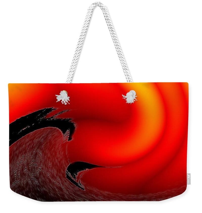 Danger Weekender Tote Bag featuring the photograph Dangerous Waters Off Alki by Tim Allen