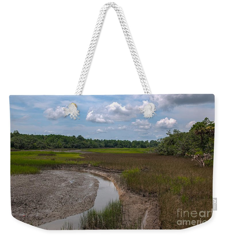 Daniel Island Weekender Tote Bag featuring the photograph Daniel Island Paradise by Dale Powell