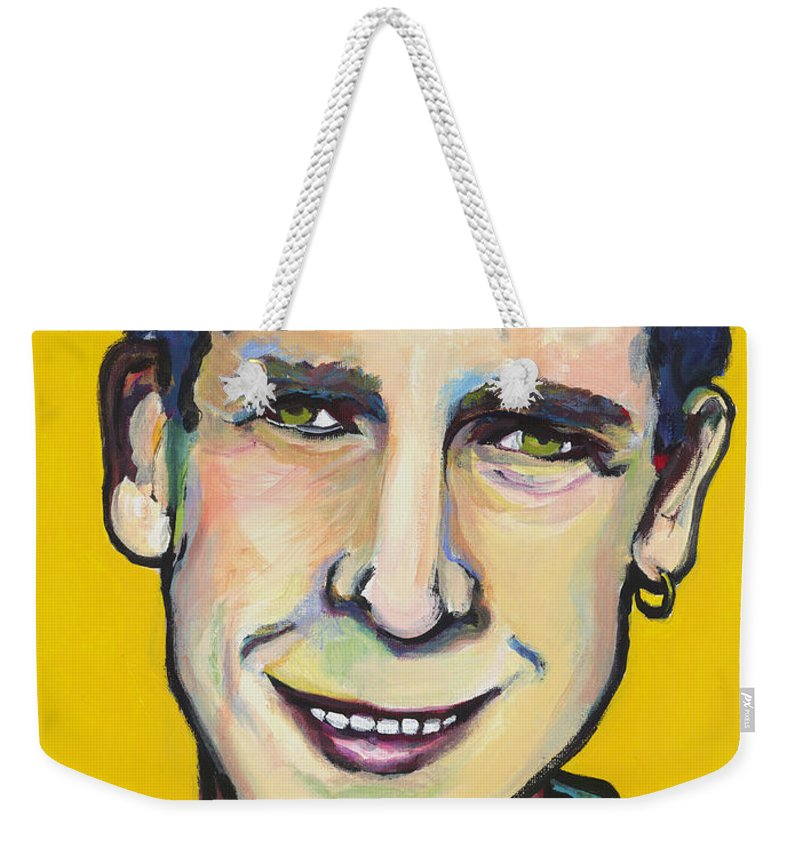 Portrait Weekender Tote Bag featuring the painting Daniel by Pat Saunders-White