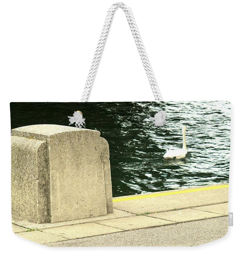 Swan Weekender Tote Bag featuring the photograph Danube River Swan by Ian MacDonald