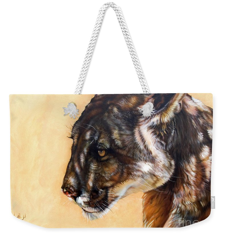 Catamount Weekender Tote Bag featuring the painting Dappled by J W Baker