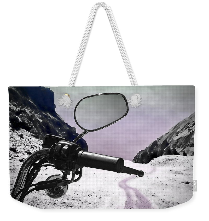 Handle Weekender Tote Bag featuring the photograph Daredevil by Evelina Kremsdorf