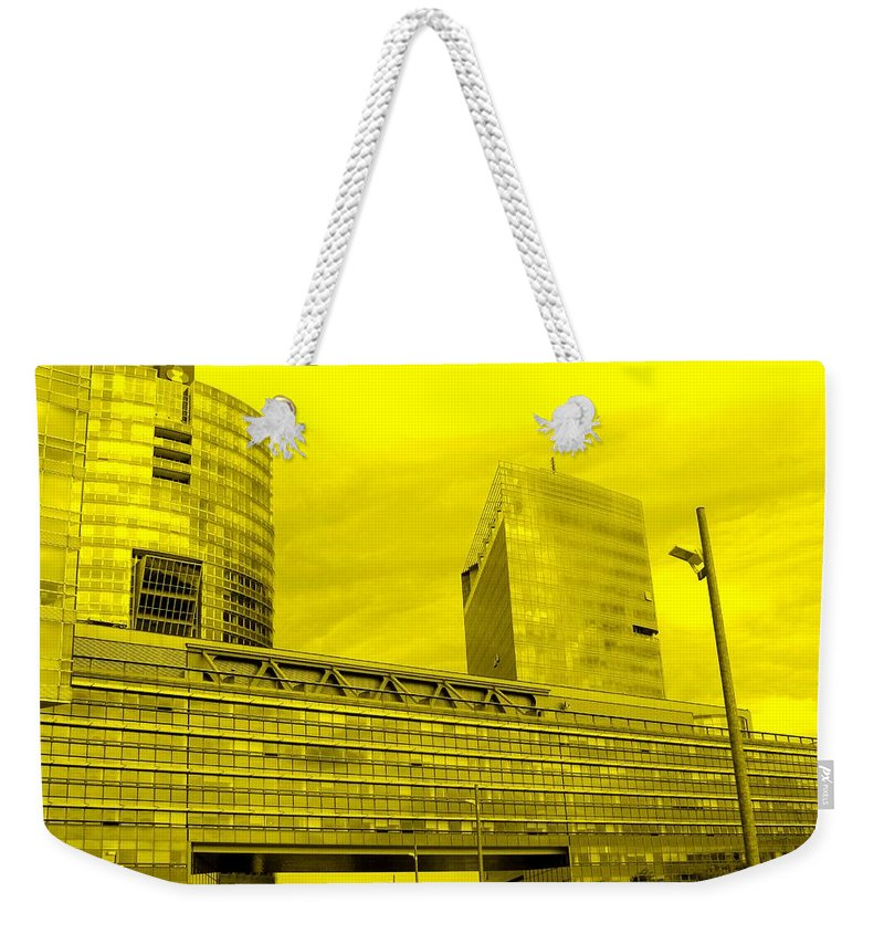 Vienna Weekender Tote Bag featuring the photograph Daring Architecture by Ian MacDonald