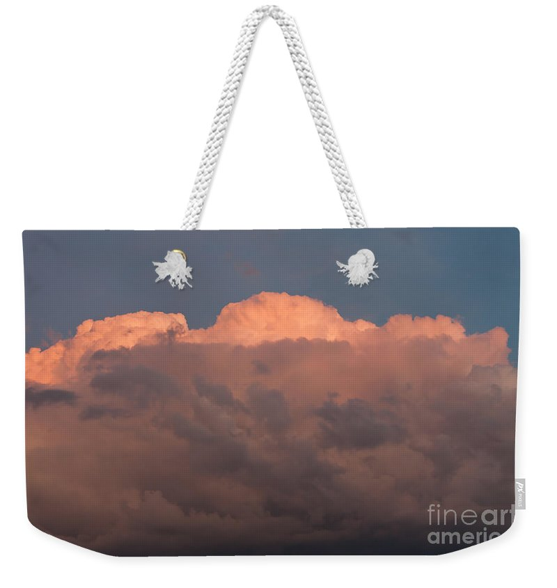 Sky Weekender Tote Bag featuring the photograph Dark Brooding Cloudscape by Arletta Cwalina