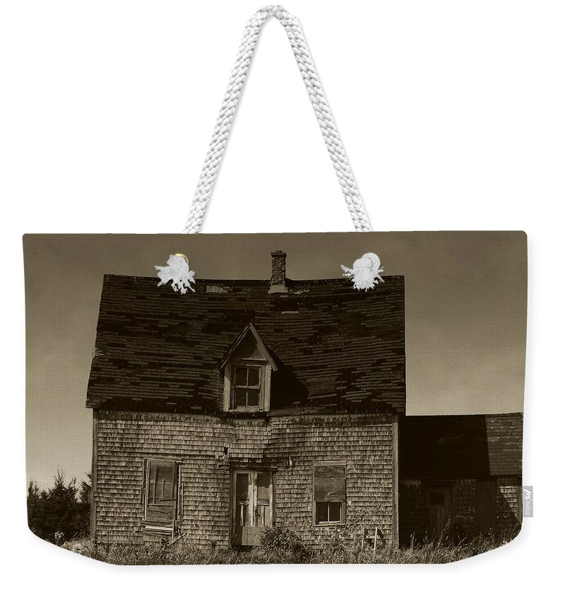 Old House Weekender Tote Bag featuring the photograph Dark Day On Lonely Street by RC DeWinter