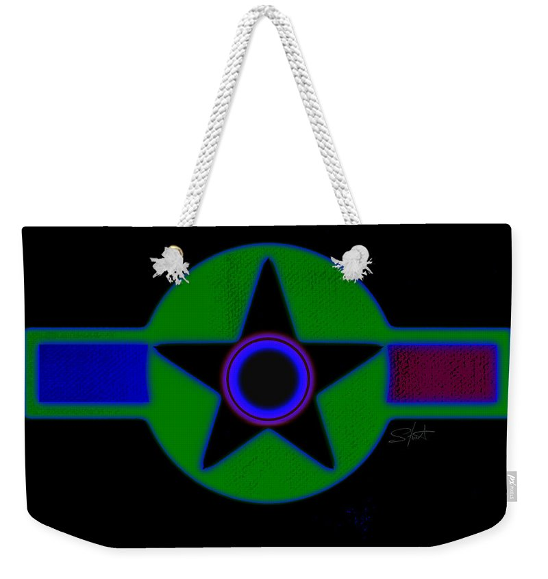 Usaaf Weekender Tote Bag featuring the painting Dark Green by Charles Stuart