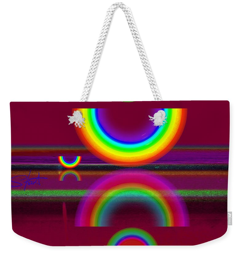 Reflections Weekender Tote Bag featuring the painting Dark Heat by Charles Stuart