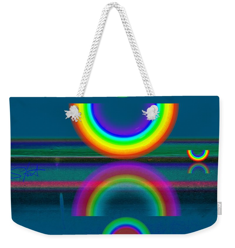 Reflections Weekender Tote Bag featuring the painting Dark Mirror by Charles Stuart