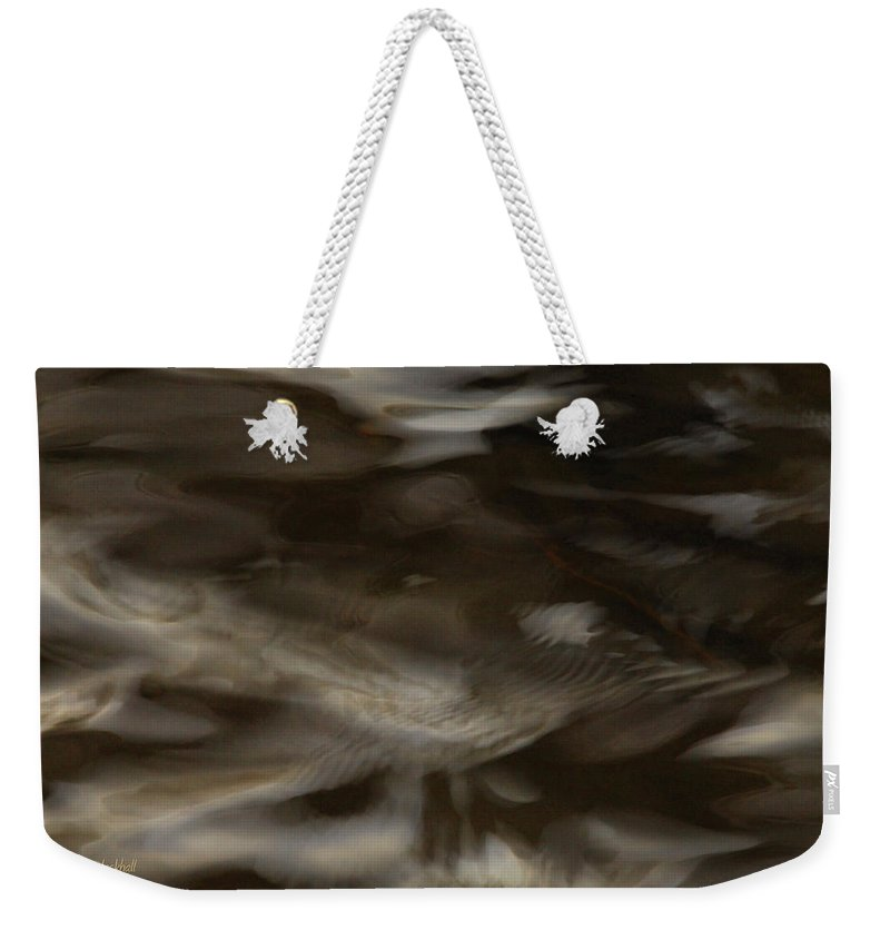 Water Weekender Tote Bag featuring the photograph Dark Mystery by Donna Blackhall