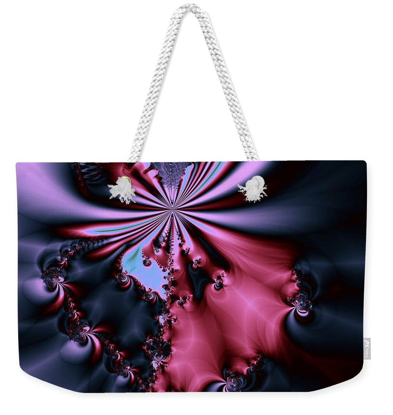 Digital Art Weekender Tote Bag featuring the digital art Dark Orchid by Amanda Moore