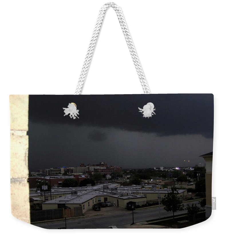 Clouds Weekender Tote Bag featuring the photograph Dark Storm by Amy Hosp