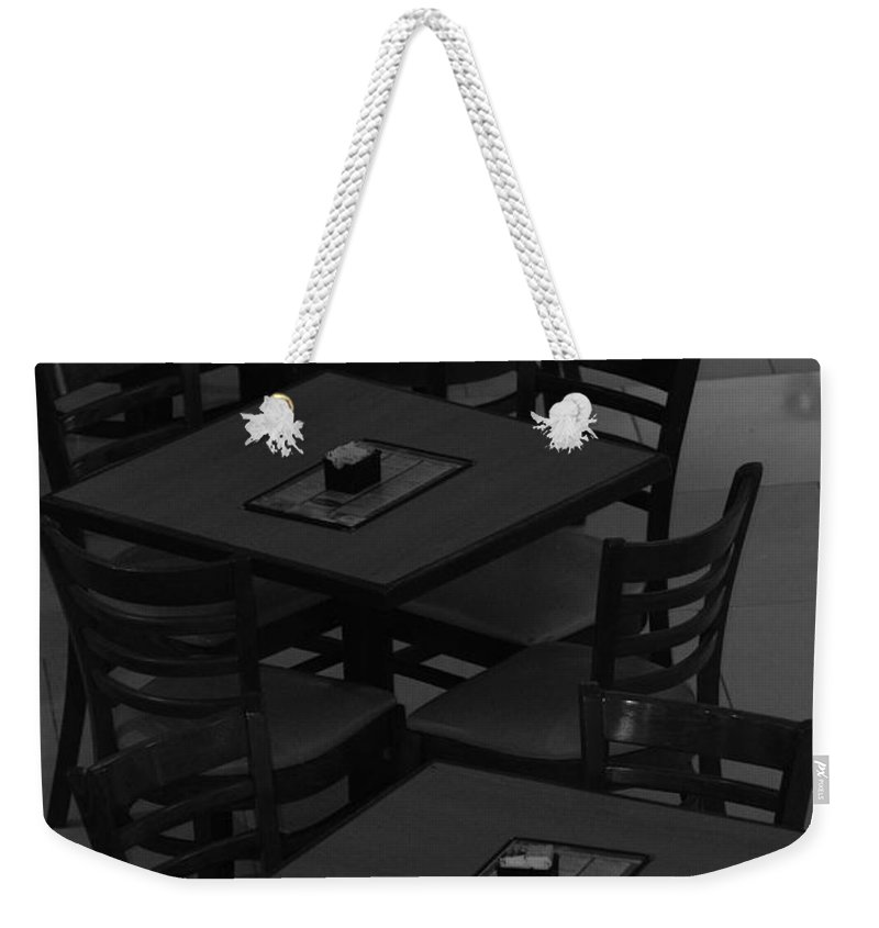 Tables Weekender Tote Bag featuring the photograph Dark Tables by Rob Hans