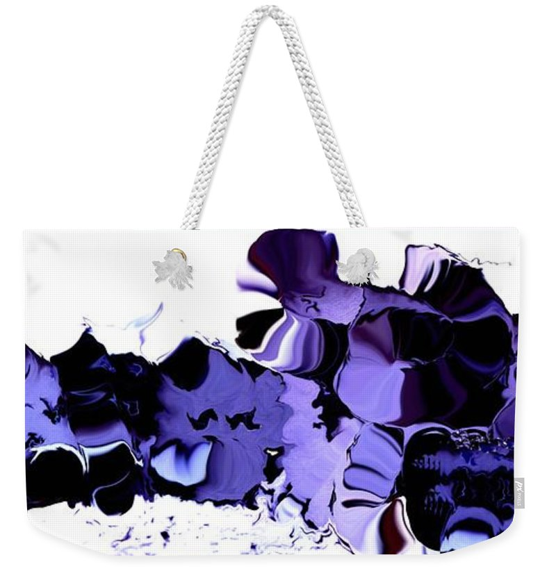 Vegetables Weekender Tote Bag featuring the digital art Dark Turbulence by Ron Bissett