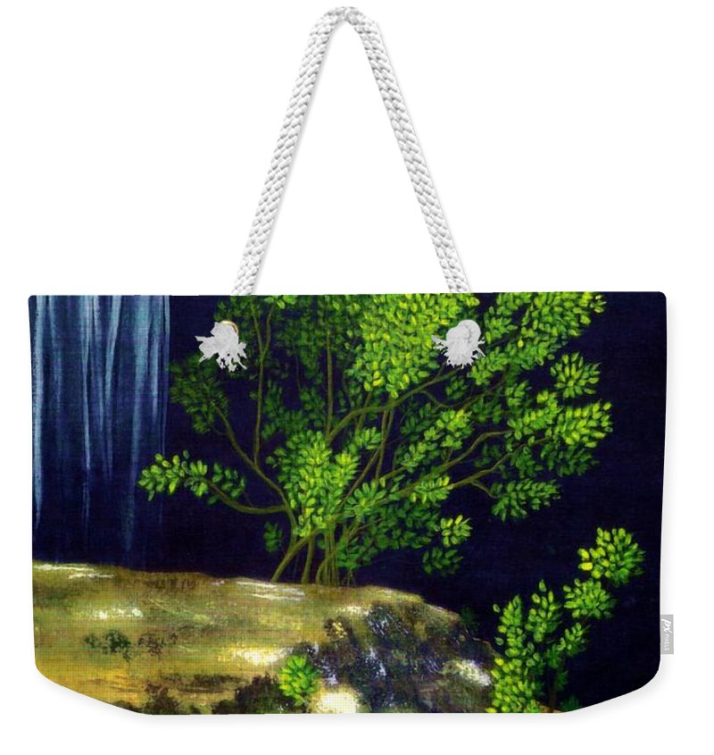 Fine Art Weekender Tote Bag featuring the painting Dark Waters by Patricia Griffin Brett