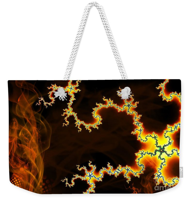 Clay Weekender Tote Bag featuring the digital art Dark World by Clayton Bruster