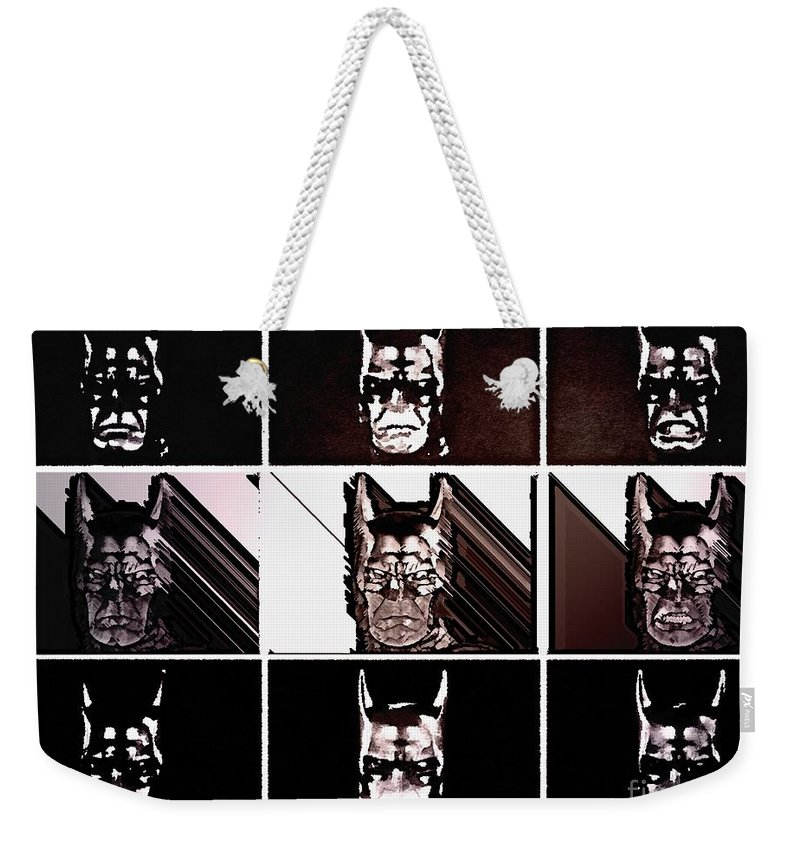 The Dark Knight Weekender Tote Bag featuring the painting Darkbat by Helge