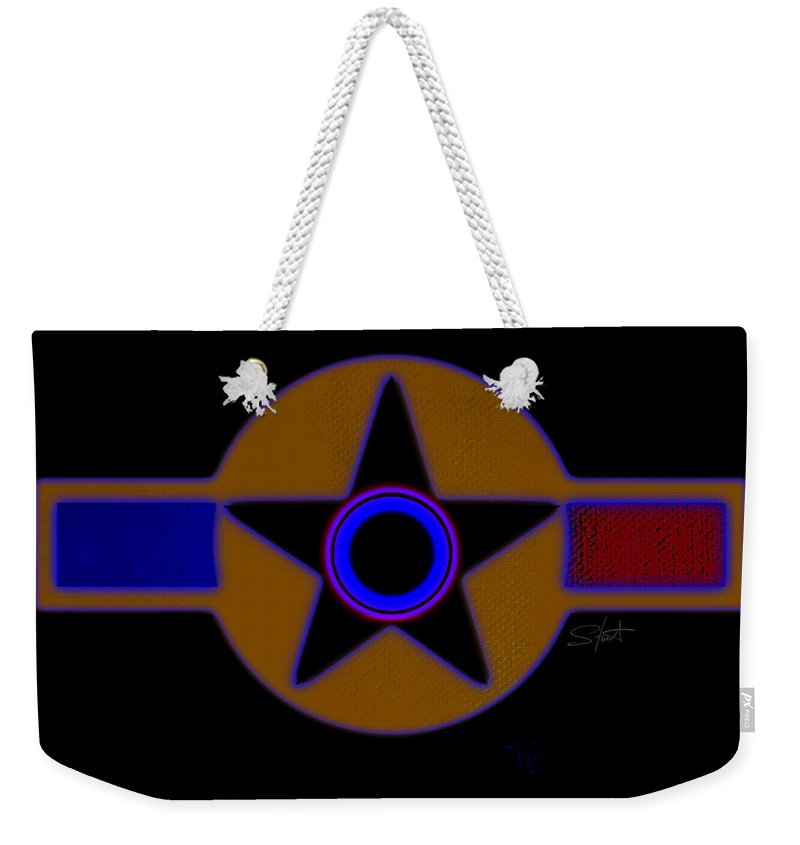Usaaf Weekender Tote Bag featuring the painting Darker Than Black by Charles Stuart