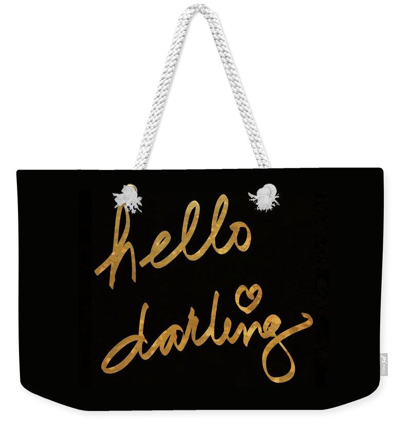 Darling Weekender Tote Bag featuring the painting Darling Bella I by South Social Studio