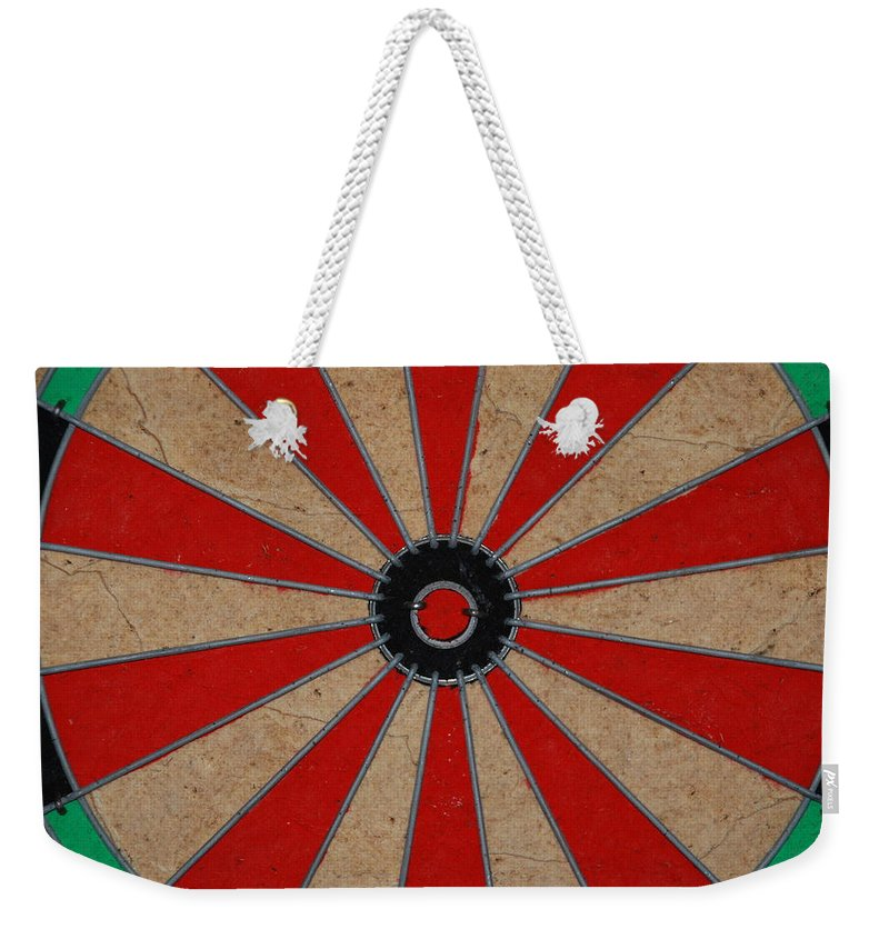 Art Weekender Tote Bag featuring the photograph Dart Board by Rob Hans