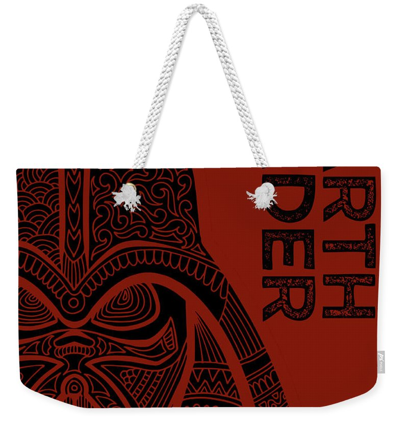 Darth Vader Weekender Tote Bag featuring the mixed media Darth Vader - Star Wars Art by Studio Grafiikka