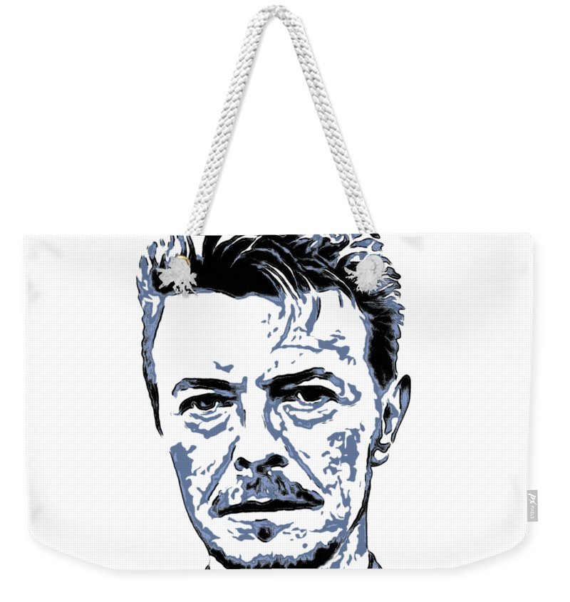 David Bowie Weekender Tote Bag featuring the painting David Bowie Collection - 5 by Sergey Lukashin