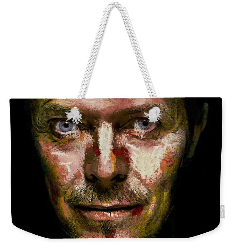 Portraits Weekender Tote Bag featuring the digital art David Bowie by Dragica Micki Fortuna